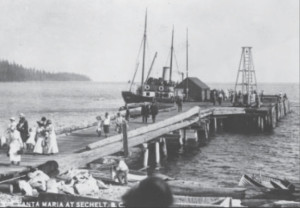 Steamship at Sechelt dock