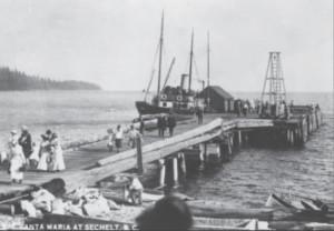 Steamship at Sechelt dock